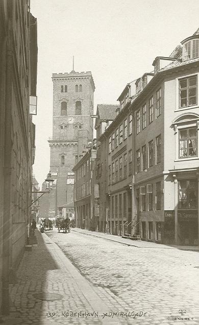 Admiralgade - Postkort nr.139 udgivet af Fotografisk Forlag - ca.1908