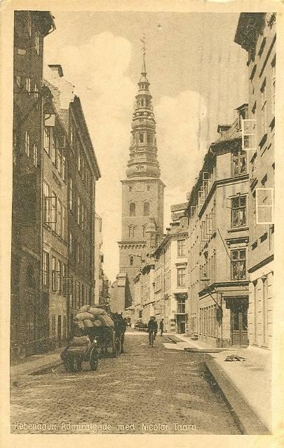 Admiralgade - Postkort nr.27219 udgivet af Stenders Forlag nr. 27219 - afsendt i 1924