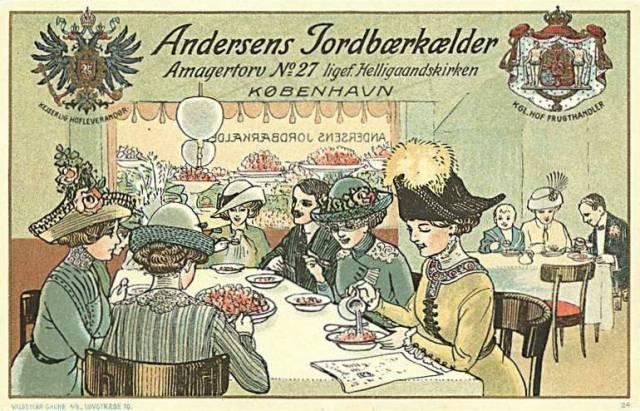 Amagertorv 27 - Andersens jordbærkælder - ældre postkort