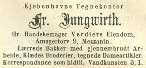 Amagertorv 9 - Annonce fra Illustreret Tidende nr.688, 1.december 1872