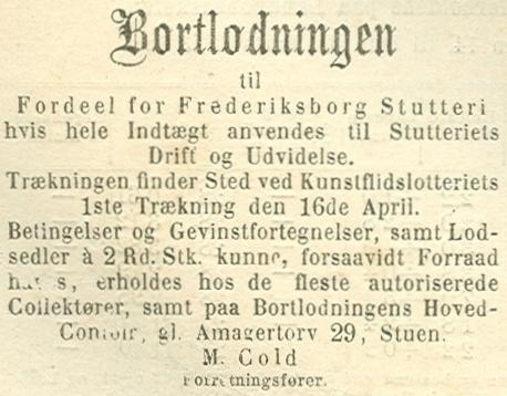 Amagertorv - Annonce fra Illustreret Tidende - Ill.Tid. nr.704 - 23.marts 1873