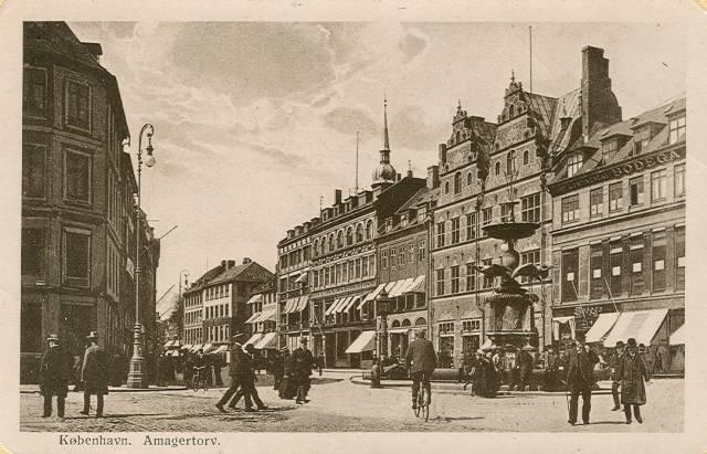 Amagertorv - Postkort af ukendt udgiver - afsendt i 1917