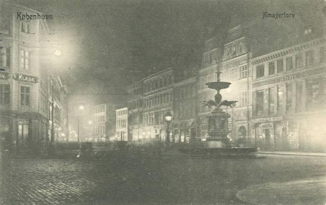 Amagertorv - Postkort nr.1161 udgivet af Sk. B. & Kf. - afsendt i 1907