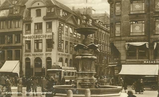 Amagertorv set mod Østergade - Postkort nr.53 udgivet af Rudolf Olsen - afsendt i 1929