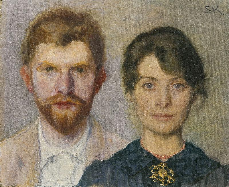 Dobbeltportræt af P.S. Krøyer og Marie Krøyer
