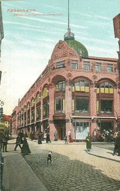 Frederiksberggade - varehuset - postkort fra 1910