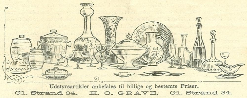 Gammel Strand 34 - 7 - Annonce fra Illustreret Tidende nr.39, 26.juni 1887