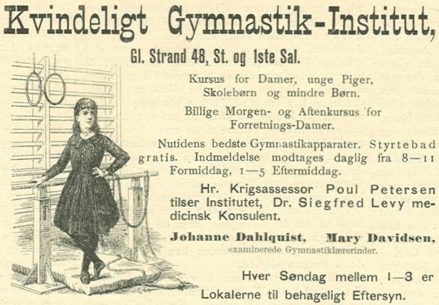 Gammel Strand 48 - Læderstræde 15 - 6 - Annonce fra Illustreret Tidende nr.5, 31.oktober 1886