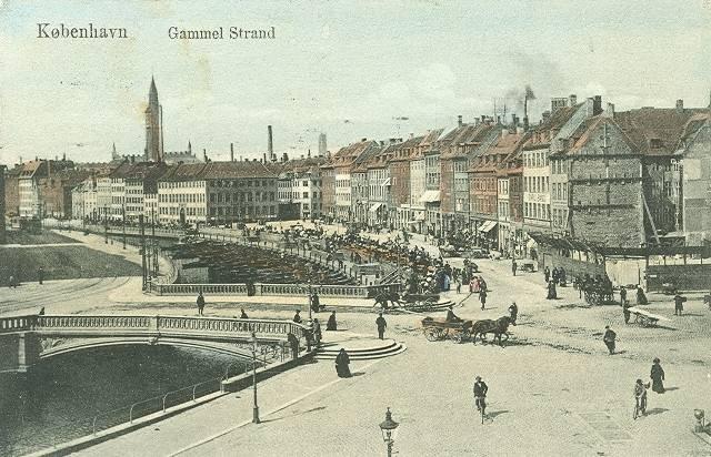 gammel-strand-postkort-gammel-strand-med-hoejbro-afsendt-i-1907