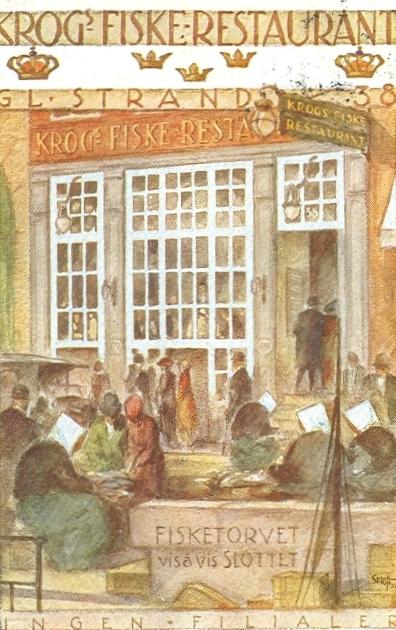 gammel-strand-postkort-med-krogs-fiskerestaurant-afsendt-i-1929