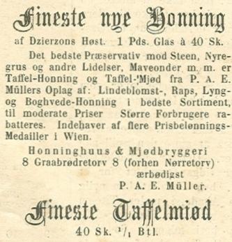 Gråbrødre Torv 6-8 - 6 - Annonce fra Illustreret Tidende nr.731 - 28.september