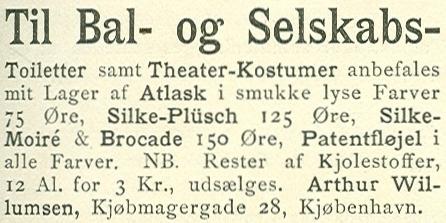 Købmagergade 28-28b - 4 - Annonce fra Illustreret Tidende nr.11, 15.december 1889