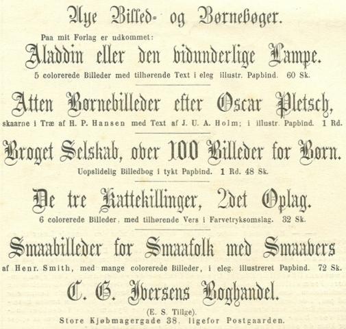 Købmagergade 38 - 3 - Annonce fra Illustreret Tidende nr.690, 15.december 1872