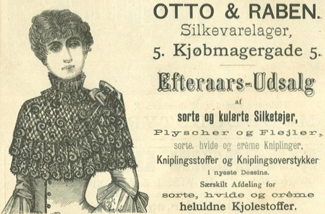 Købmagergade 5 - 6 - Annonce fra Illustreret Tidende nr.1, 3.oktober 1886