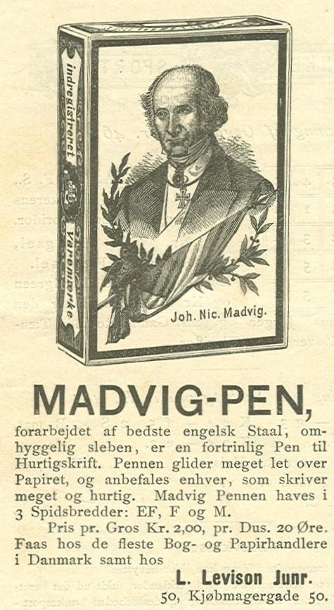 Købmagergade 50-50a-f - Pilestræde 65 - 10 - Annonce fra Illustreret Tidende nr.48, 28.august 1887