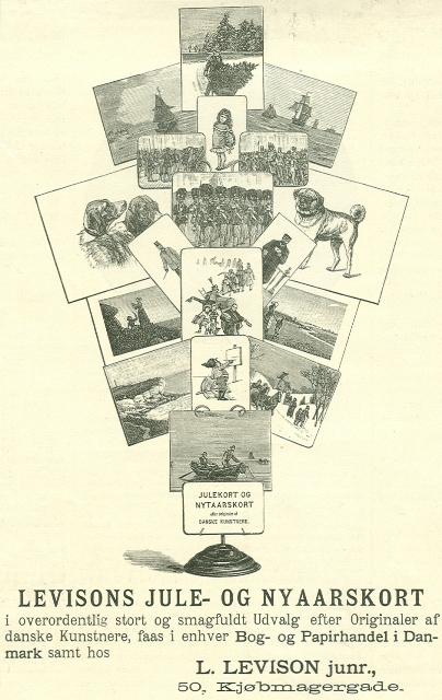 Købmagergade 50-50a-f - Pilestræde 65 - 11 - Annonce fra Illustreret Tidende nr.11, 15.december 1889