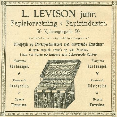 Købmagergade 50-50a-f - Pilestræde 65 - 12 - Annonce fra Illustreret Tidende nr.12, 22.december 1889