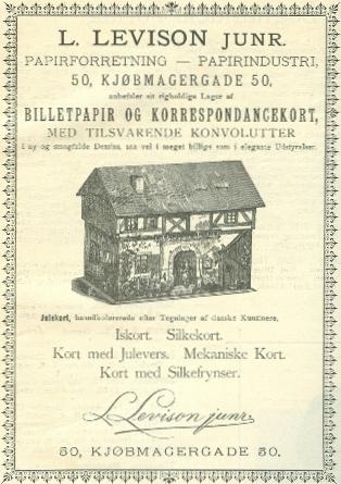 Købmagergade 50-50a-f - Pilestræde 65 - 9 - Annonce fra Illustreret Tidende nr.12, 19.december 1886