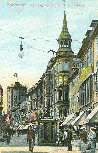 Klareboderne 1 - Købmagergade 42 - 8 - koloreret postkort fra 1911