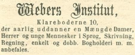 Klareboderne 10 - 5 - Annonce fra Illustreret Tidende nr.729, 14.september 1873