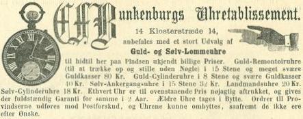 Klosterstræde 14 - 5 - annonce fra Illustreret Tidende