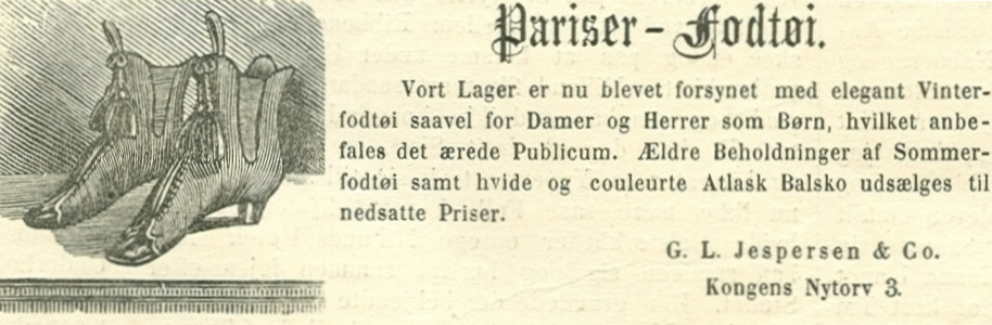 Kongens Nytorv 3-5 - 15 - Annonce fra Illustreret Tidende nr.685, 10.november 1872