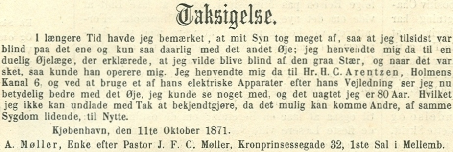 Kronprinsessegade 30-32 - 16 - Herlig og naiv annonce fra Illustreret Tidende nr.688, 1.december 1872