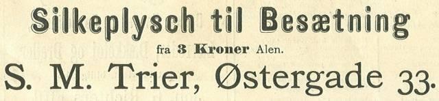 Lille Kongensgade 34 - Østergade 33-35 - Nikolaj Plads 3 - 20 - annonce fra Illustreret Tidende