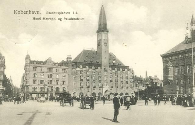 Mikkel Bryggers Gade 8 - Rådhuspladsen 57 - 24 - ældre postkort fra ca.1910