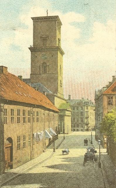 noerregade-og-frue-kirke-kortforlaget-danmark-sendt-i-1909
