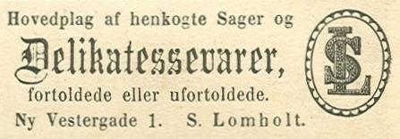 Ny Vestergade 1 - 13 - annonce fra Illustreret Tidende