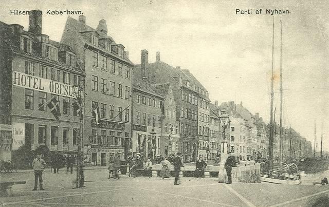 nyhavn-postkort-med-parti-af-nyhavn-afsendt-i-1908