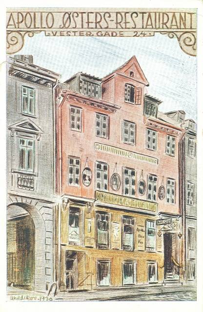 Rådhuspladsen 35-37 - Vester Voldgade 33 - Vestergade 22-28 - 30 - ældre postkort