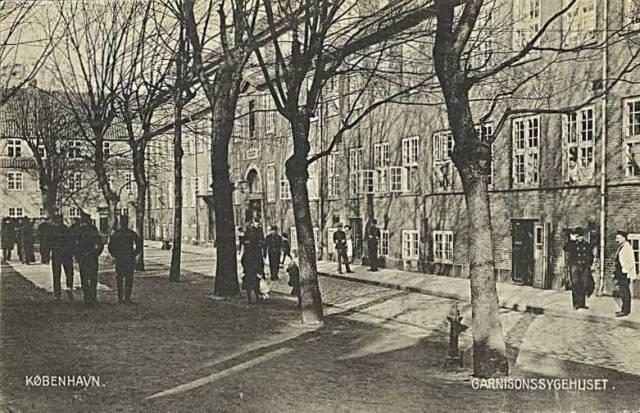 rigensgade-postkort-med-garnisonssygehuset-udg-af-h-p-petersenafsendt-i-1909
