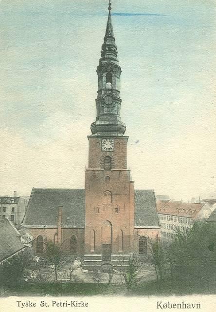 Sankt Peders Stræde 2 - 22 - ældre postkort