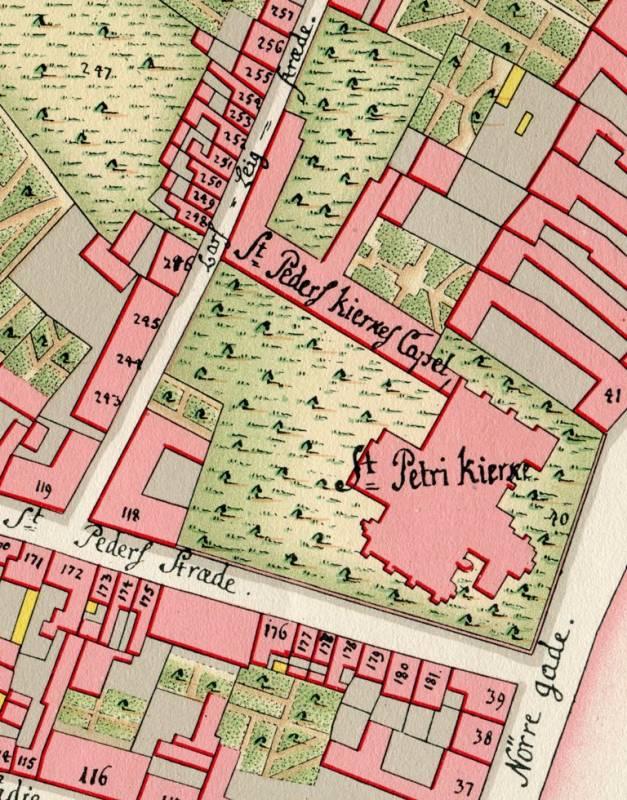 Sankt Peders Stræde 2 - 47 - Geddes Kvarterkort