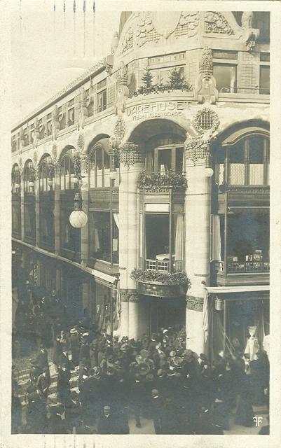 Varehuset i Frederiksberggade - Fotografisk Forlag - sendt i 1910